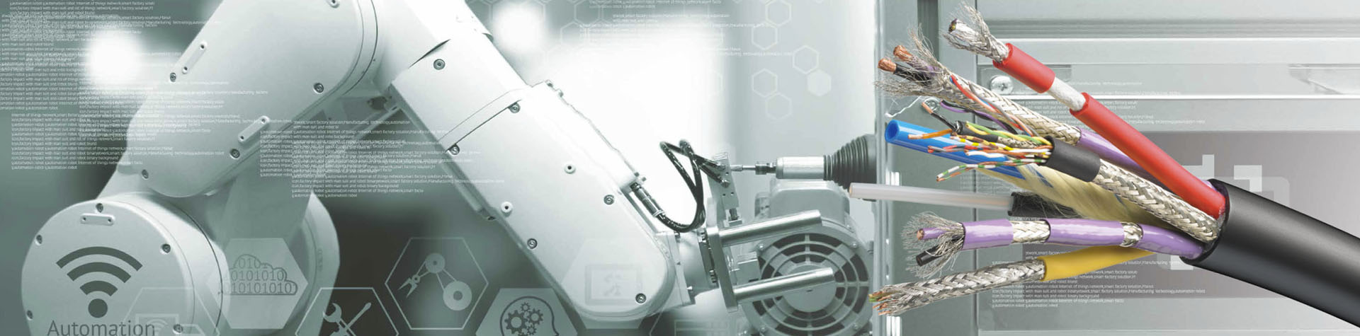 Abisolierte Kabel Robotik