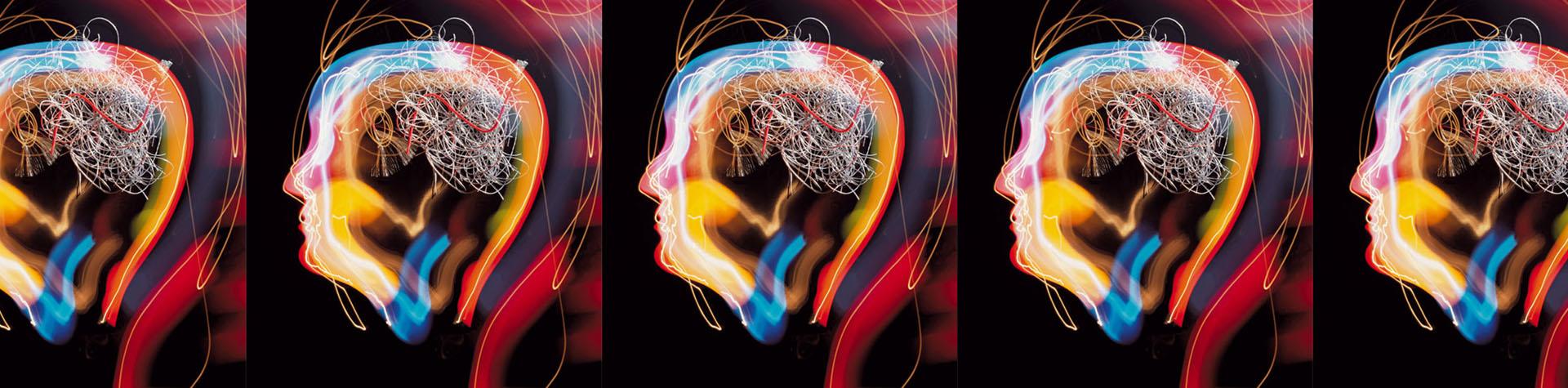 Menschliches Gehirn abstrakt